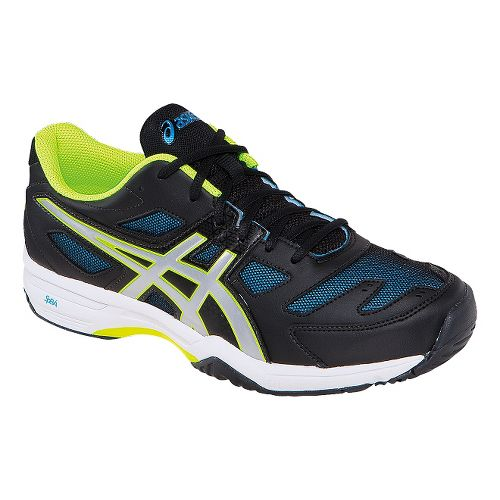 Mens ASICS GEL-Solution Slam 2 Court Shoe - Black/Flash Yellow 8.5
