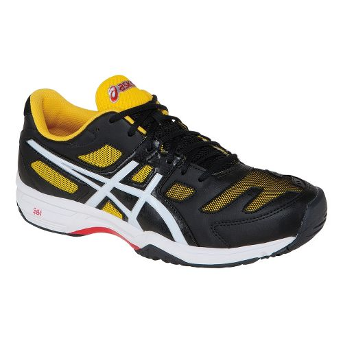 Mens ASICS GEL-Solution Slam 2 Court Shoe - Black/Flash Yellow 10.5