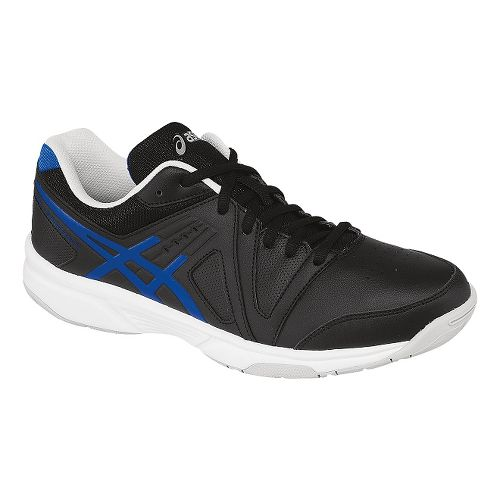 Mens ASICS GEL-Gamepoint Court Shoe - Black/Jet Blue 12.5