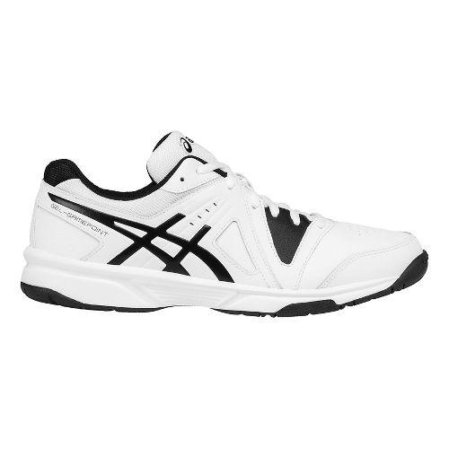 Mens ASICS GEL-Gamepoint Court Shoe - White/Black 12