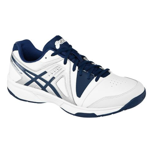 Mens ASICS GEL-Gamepoint Court Shoe - White/Navy 7.5
