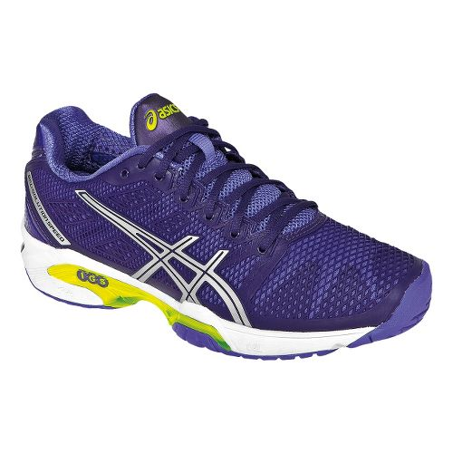 Womens ASICS GEL-Solution Speed 2 Court Shoe - Purple/Silver 7.5