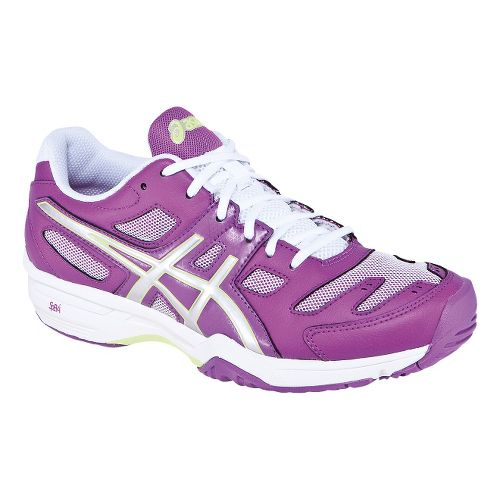 Womens ASICS GEL-Solution Slam 2 Court Shoe - Grape/Lightning 7.5