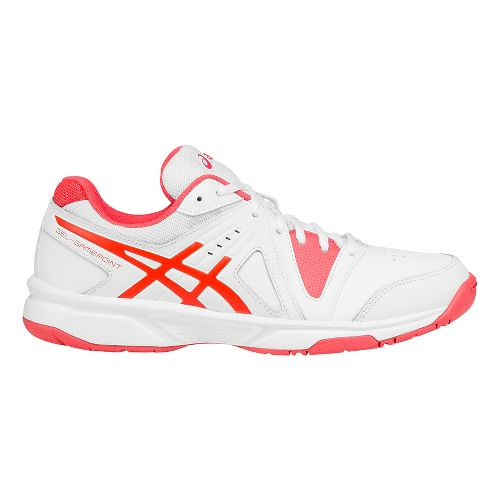 Womens ASICS GEL-Gamepoint Court Shoe - White/Pink 12