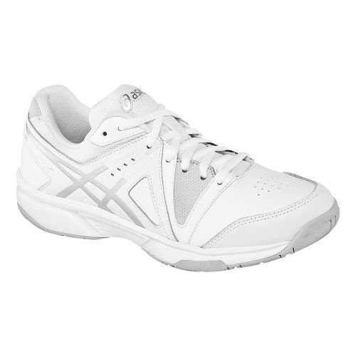 Womens ASICS GEL-Gamepoint Court Shoe - White/Silver 9.5