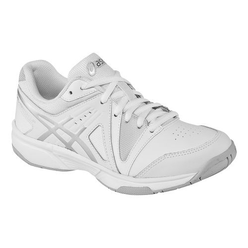 Kids ASICS GEL-Gamepoint GS Court Shoe - White/Silver 5.5