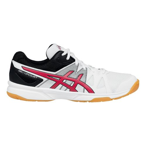 Mens ASICS GEL-Upcourt Court Shoe - White/Red 6