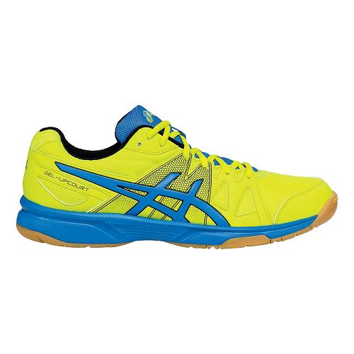 Mens ASICS GEL-Upcourt Court Shoe - Lime/Blue 12.5