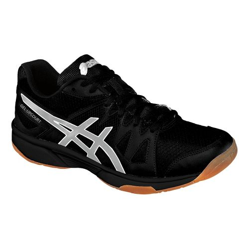 Mens ASICS GEL-Upcourt Court Shoe - Black/Silver 12.5