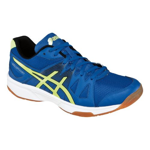 Mens ASICS GEL-Upcourt Court Shoe - Blue/Flash Yellow 6.5