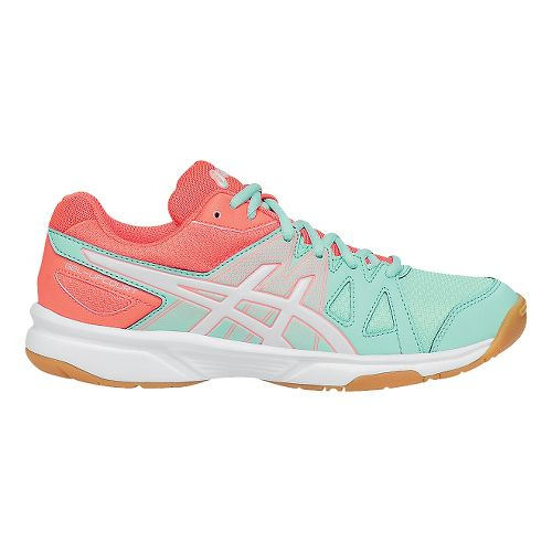 Womens ASICS GEL-Upcourt Court Shoe - Mint/White 12