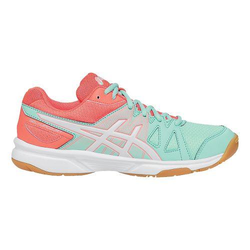 Womens ASICS GEL-Upcourt Court Shoe - Mint/White 9.5