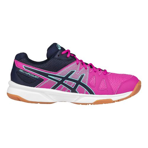 Womens ASICS GEL-Upcourt Court Shoe - Pink/Aqua 10.5