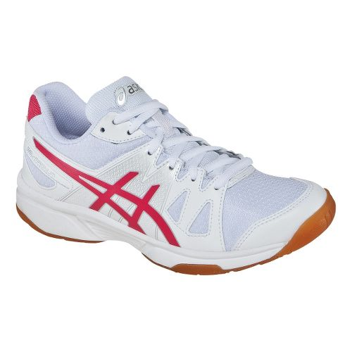 Womens ASICS GEL-Upcourt Court Shoe - White/Raspberry 7.5