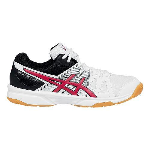 Kids ASICS GEL-Upcourt Court Shoe - White/Red 2.5Y
