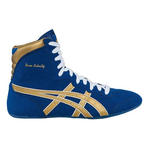 Mens ASICS Dave Schultz Classic Wrestling Shoe - Royal Blue/Gold 10