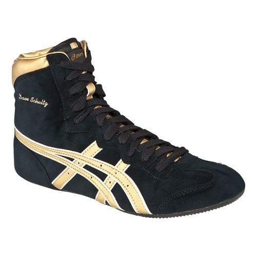 Mens ASICS Dave Schultz Classic Wrestling Shoe - Royal Blue/Gold 12