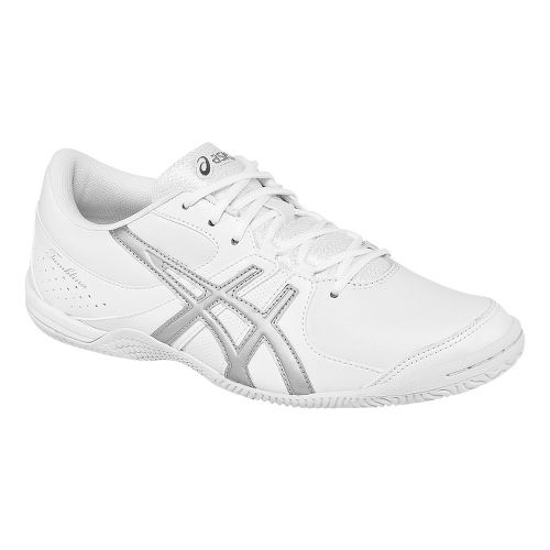 Womens ASICS GEL-Tumblina Cheerleading Shoe - White/Silver 11.5