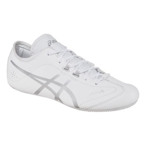 Womens ASICS Flip'n Fly Cheerleading Shoe - White/Silver 6.5