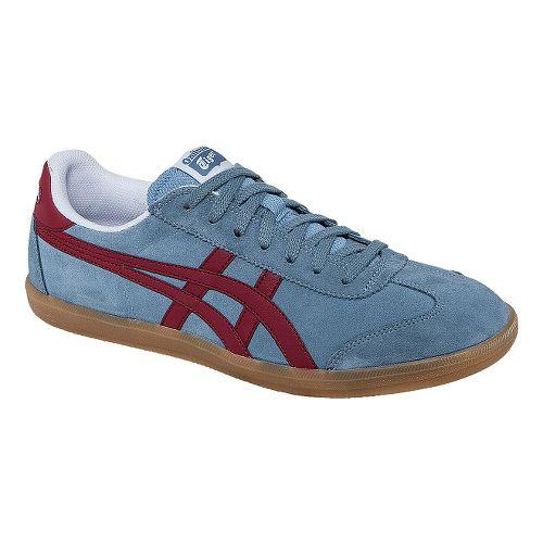 Mens ASICS Tokuten Track and Field Shoe - Blue/Burgundy 4.5