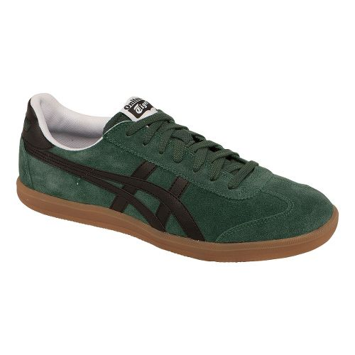 Mens ASICS Tokuten Track and Field Shoe - Dark Green/Black 7.5