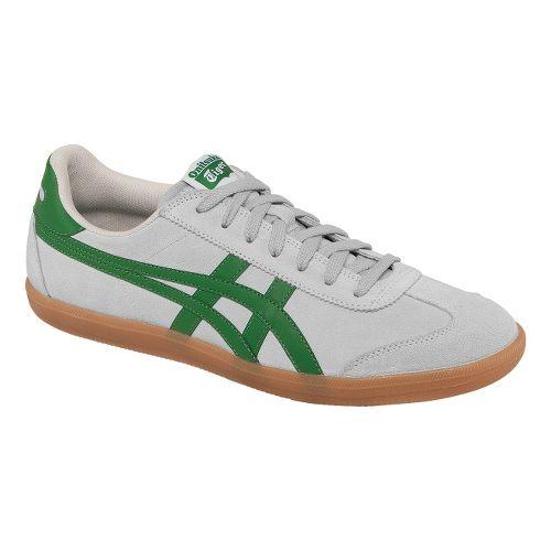 Mens ASICS Tokuten Track and Field Shoe - Grey/Green 4
