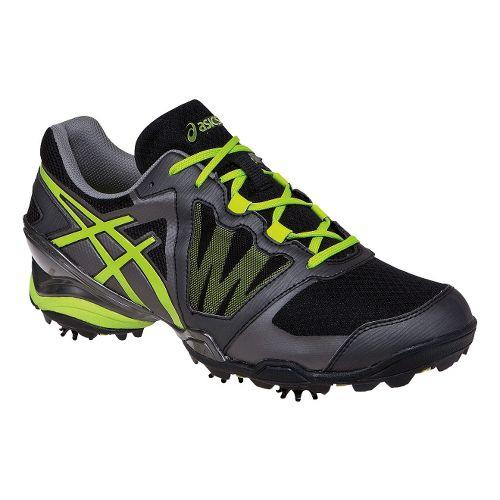 Mens ASICS GEL-Ace Tour Sunbelt Track and Field Shoe - Black/Lime 12