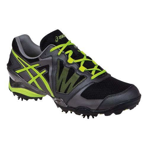 Mens ASICS GEL-Ace Tour Sunbelt Track and Field Shoe - Black/Lime 7.5