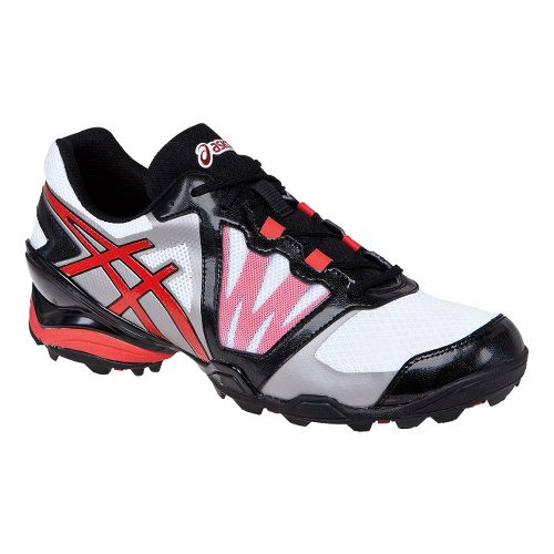 Mens ASICS GEL-Ace Tour Sunbelt Track and Field Shoe - White/True Red 8.5