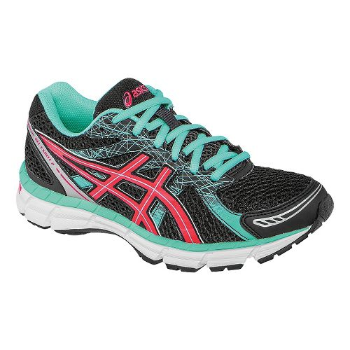 Womens ASICS GEL-Excite 2 Running Shoe - Onyx/Diva Pink 9.5