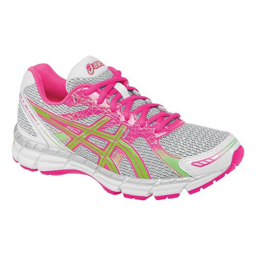 Womens ASICS GEL-Excite 2 Running Shoe - White/Hot Pink 10.5