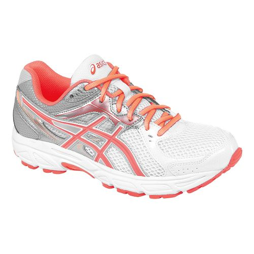 Womens ASICS GEL-Contend 2 Running Shoe - White/Coral 5.5