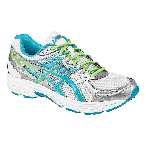 Womens ASICS GEL-Contend 2 Running Shoe - White/Turquoise 10.5