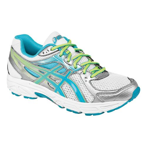 Womens ASICS GEL-Contend 2 Running Shoe - White/Turquoise 10.5