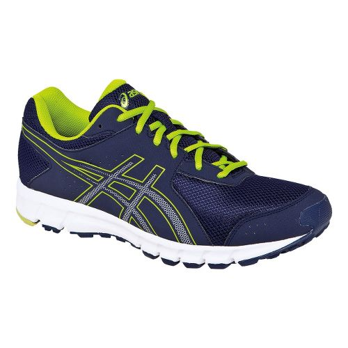 Mens ASICS Matchplay 2 Track and Field Shoe - Navy/Lime 7