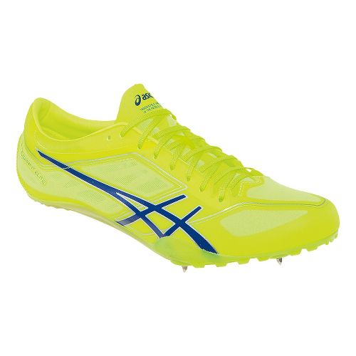 Mens ASICS SonicSprint Elite Track and Field Shoe - Flash Yellow/Blue 8
