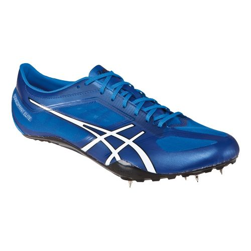 Mens ASICS SonicSprint Elite Track and Field Shoe - Blue/White 10.5
