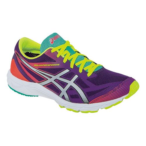 Womens ASICS GEL-Hyper Speed 6 Racing Shoe - Purple/Silver 10.5