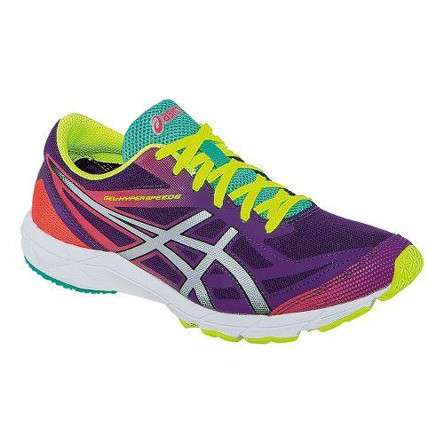 Womens ASICS GEL-Hyper Speed 6 Racing Shoe - Purple/Silver 5.5