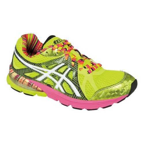 Womens ASICS GEL-Preleus Running Shoe - Flash Yellow/White 10.5