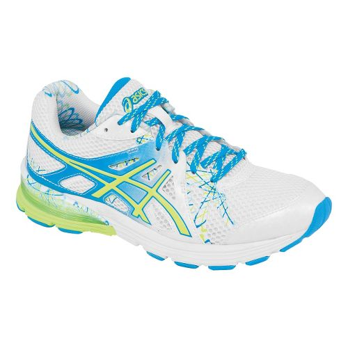 Womens ASICS GEL-Preleus Running Shoe - White/Sharp Green 11.5