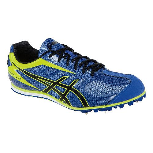 Mens ASICS Hyper LD 5 Track and Field Shoe - Blue/Yellow 10.5