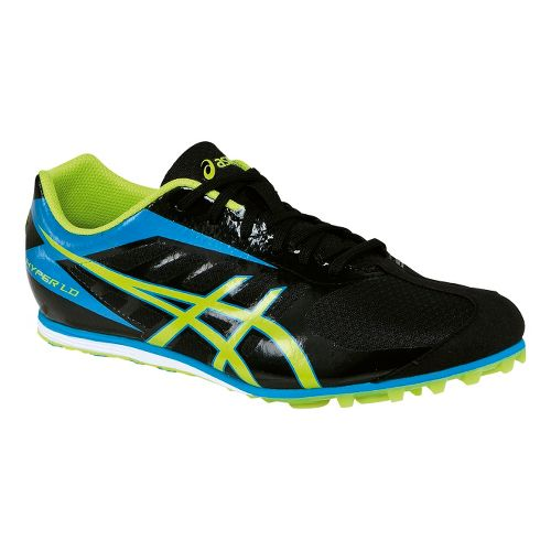 Mens ASICS Hyper LD 5 Track and Field Shoe - Black/Lime 12