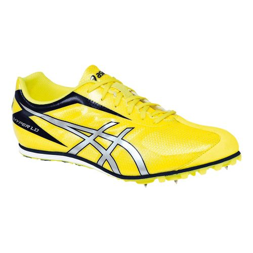 Mens ASICS Hyper LD 5 Track and Field Shoe - Flash Yellow/Silver 1.5