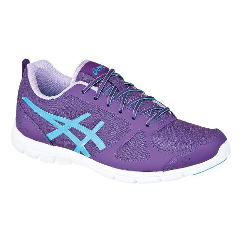 Womens ASICS GEL-Muse Fit Cross Training Shoe - Grapemist/Turquoise 7.5