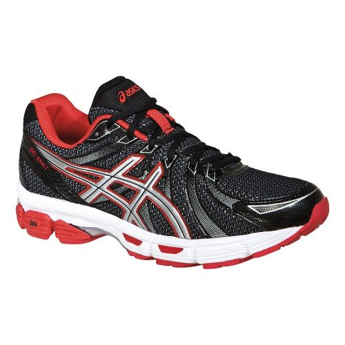 Mens ASICS GEL-Exalt Running Shoe - Black/Silver 10.5