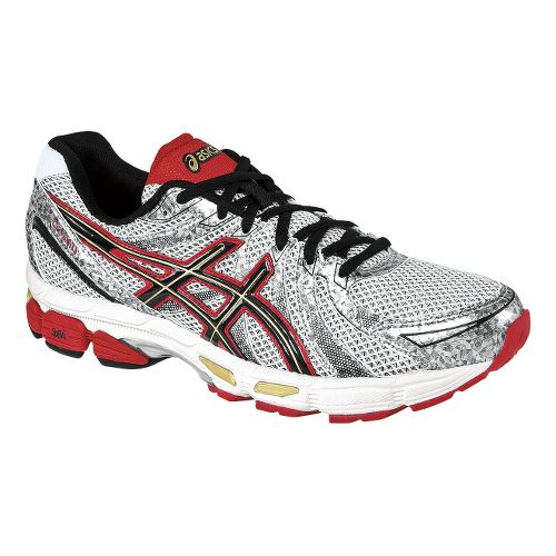 Mens ASICS GEL-Exalt Running Shoe - White/Black 12.5