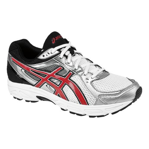 Mens ASICS GEL-Contend 2 Running Shoe - White/Red 8.5