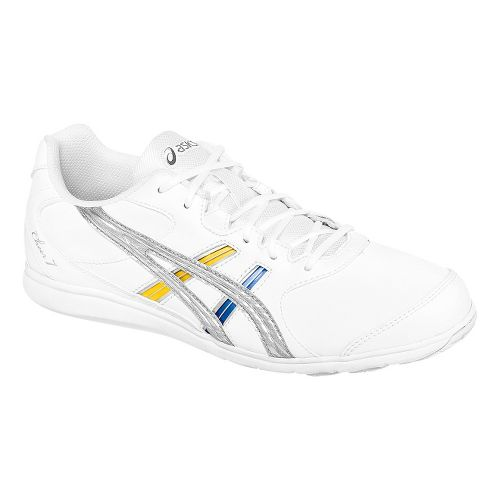 Womens ASICS Cheer 7 Cheerleading Shoe - White/Silver 5