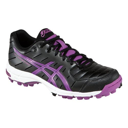 Womens ASICS GEL-Hockey Neo 3 Cross Country Shoe - Black/Violet 7.5